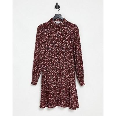 アンドアザーストーリーズ レディース ワンピース トップス & Other Stories floral print shirt mini dress in multi