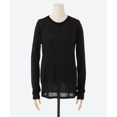 <BASERANGE(Women)/ベースレンジ> Long Sleeve Tee-Bamboo jersey Black【三越伊勢丹/公式】