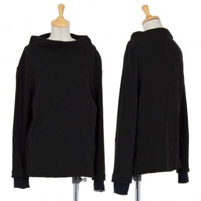 ワイズY's ネックデザイン袖リブ切替カットソー 黒2 【レディース】
