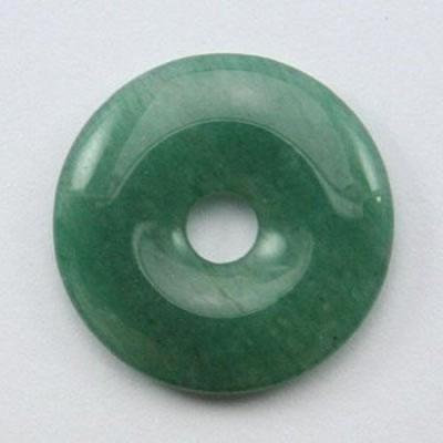 【天然石 置き石】ドーナツ型(ピーディスク) 30mm アベンチュリン パワーストーン