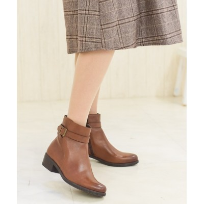neue marche / ベルト付ショートブーツ/4426大きいサイズ WOMEN シューズ > ブーツ