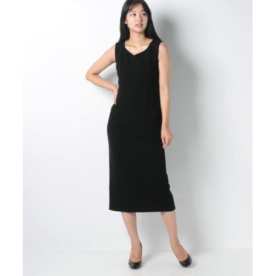 La Festa chic/ラフェスタシック ダブルクレープ ドレス ブラック 11