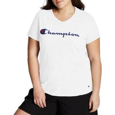 チャンピオン レディース シャツ トップス Champion Women's Plus Jersey Graphic T-Shirt White