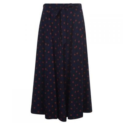 セット SET レディース ひざ丈スカート スカート Spot Midi Skirt Blue Brown