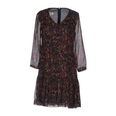 GIGUE ミニワンピース&ドレス ココア 36 ポリエステル 100% ミニワンピース&ドレス