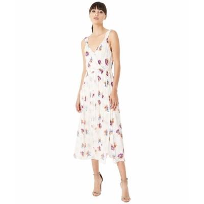 ジェイソンウー ワンピース トップス レディース Floral Front Slip V-Neck Dress Persimmon/Clear Sky