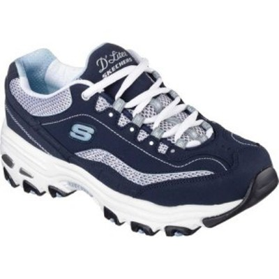 スケッチャーズ Skechers レディース スニーカー シューズ・靴 Dlites Life Saver Sneaker Navy/White/Light Blue