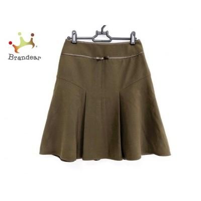ナラカミーチェ NARACAMICIE スカート サイズ1 S レディース 美品 ダークグリーン リボン     スペシャル特価 20200505