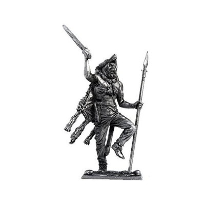 Military-historical miniatures Berserk 9-10 Century Tin Metal 54mm Action Figures Toy Soldiers Size 1/32 Scale for Home D〓cor Accents Colle
