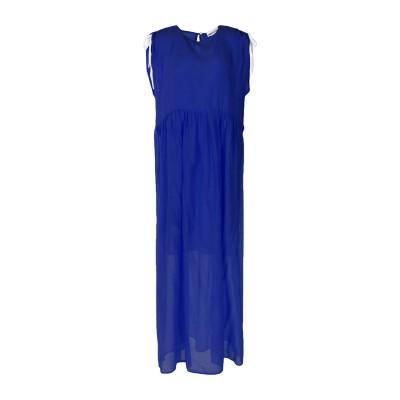 セミクチュール SEMICOUTURE ロングワンピース&ドレス ブルー 38 コットン 69% / シルク 31% ロングワンピース&ドレス
