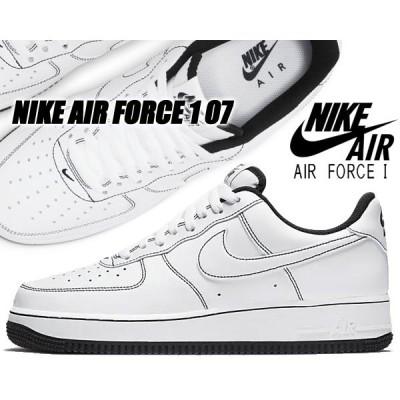 NIKE AIR FORCE 1 07 white/white-black cv1724-104 ナイキ エアフォース 1 07 スニーカー エア フォース メンズ ホワイト ブラック