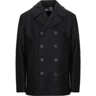 モスキーノ LOVE MOSCHINO メンズ コート アウター coat Black