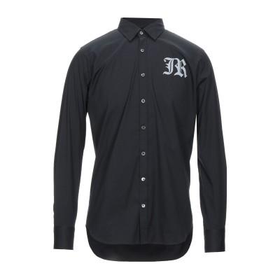 ジョン リッチモンド JOHN RICHMOND シャツ ブラック 46 コットン 75% / ナイロン 20% / ポリウレタン 5% シャツ