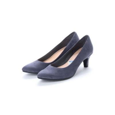 ファーストコンタクト First Contact パンプス 人気の日本製 消臭抗菌インソール搭載 歩きやすいアーモンドトゥパンプス (D.BLUE)