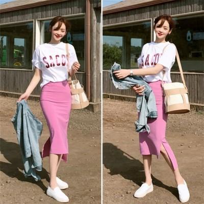 シャツタイトスカート 2点セットきれいめ 20代 30代 40代  ファッション おしゃれ 大人 お出かけ ピクニック 韓国風