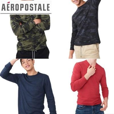aeropostaleエアロポステール正規品メンズ長袖Tシャツ サーマル ロングスリーブ ロンT