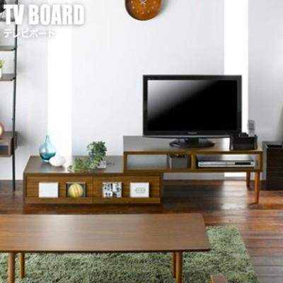 Liber リベルテ テレビボード  (テレビ台 ローボード  リビング収納 完成品 角 コーナー 伸縮 ブラウン 木製 北欧 ナチュラル)