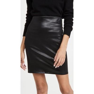 ラジャンス L'AGENCE レディース ひざ丈スカート タイトスカート スカート Brandy Pull On Pencil Skirt Black Coated