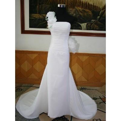 wdk201A  人気のウェディングドレスを無料サイズオーダー! ワンショルダータイプ