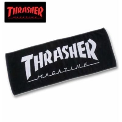 THRASHER MAG LOGOフェイスタオル ブラック×ホワイト/1270-0356-2-25