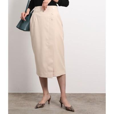 【ロペ マドモアゼル/ROPE mademoiselle】 ストレッチツイルラップタイトスカート