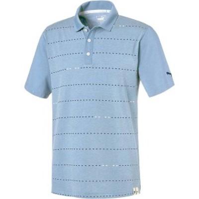 プーマ メンズ シャツ トップス PUMA Men's Fusion Dot Golf Polo Blue Bell