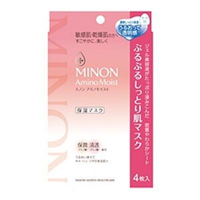 【3個セット】ミノン アミノモイスト ぷるぷるしっとり肌マスク(22ml×4枚入)×3個セット