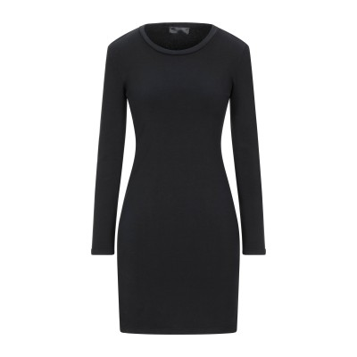SATÌNE ミニワンピース&ドレス ブラック M コットン 100% ミニワンピース&ドレス