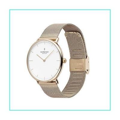 【新品】Nordgreen [ノードグリーン] 【Native】 レディース ゴールドのミニマルデザイン 腕時計ホワイト