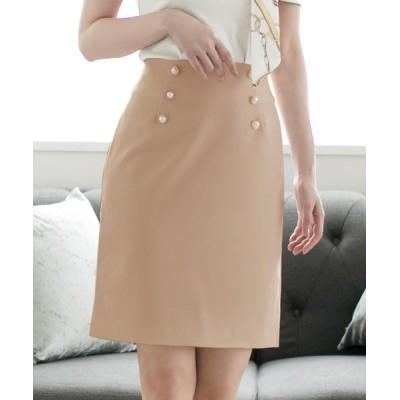 JULIA BOUTIQUE / パールダブルボタンタイトスカート/510728 WOMEN スカート > スカート