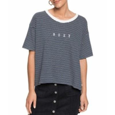 ロキシー レディース Tシャツ トップス Infinity Is Beautiful Short-Sleeve Striped T-Shirt Mood Indigo Me Stripes