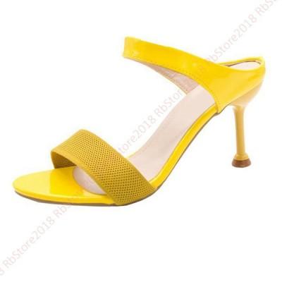 ミュール サンダル シンプル 無地 スムース ミュール サンダル レディース 婦人靴 シューズ ヒール  痛くない 歩きやすい 履きやすい 大人きれいめ パンプス