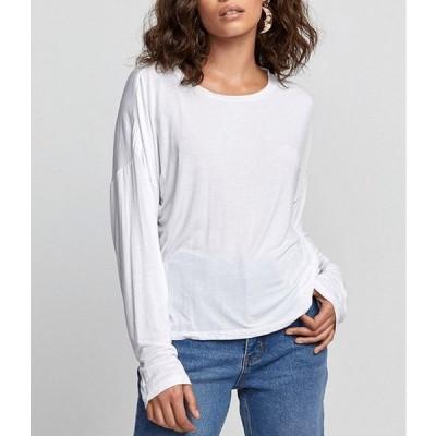 ルーカ レディース Tシャツ トップス Countdown Long-Sleeve Solid Slightly Oversized Tee