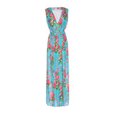 LEITMOTIV ロングワンピース&ドレス アジュールブルー 46 レーヨン 100% ロングワンピース&ドレス