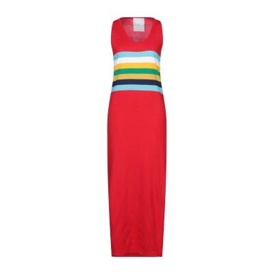 PAUL MEMOIR ロングワンピース&ドレス レッド 38 コットン 100% ロングワンピース&ドレス