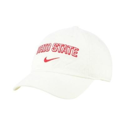 ナイキ 帽子 アクセサリー メンズ Ohio State Buckeyes H86 Wordmark Swoosh Cap White