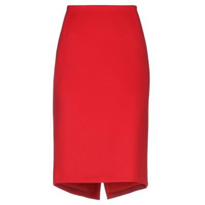 CLIPS 7分丈スカート レッド 42 ポリエステル 88% / ポリウレタン 12% 7分丈スカート
