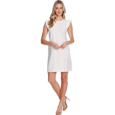 シーシー CeCe レディース ワンピース ワンピース・ドレス Double Flutter Sleeve Dress Soft Ecru