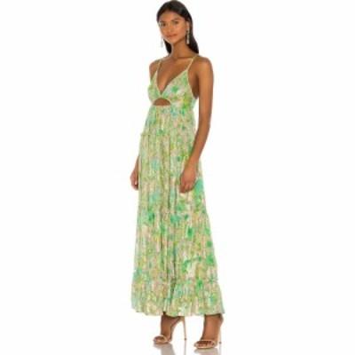 ヘマントandナンディータ HEMANT AND NANDITA レディース ワンピース ワンピース・ドレス X REVOLVE Nadia Dress Green Floral