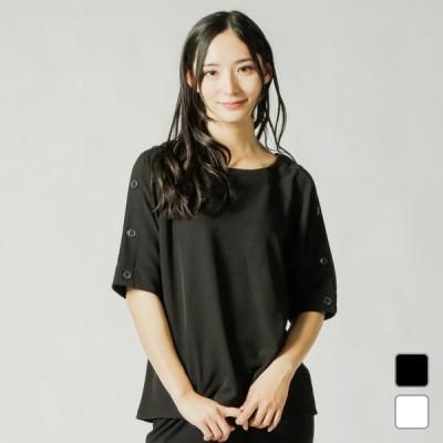 イグニオ レディース 半袖Tシャツ カットジョーゼットワイドTシャツ(半袖) (IG-9P20289CS) IGNIO