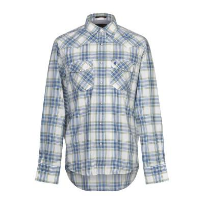 MCS MARLBORO CLASSICS シャツ アジュールブルー L コットン 100% シャツ