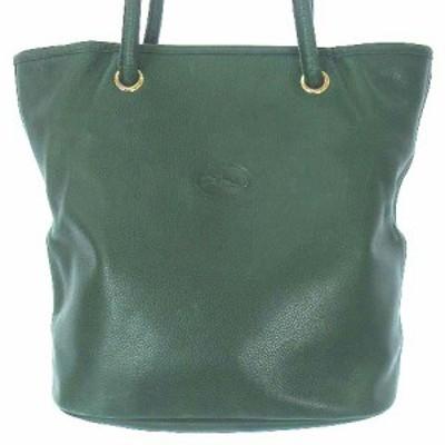 【中古】ロンシャン LONGCHAMP ショルダー バッグ レザー グリーン 緑 かばん カバン 鞄 ☆AA★ レディース