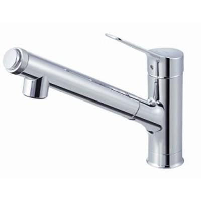 LIXIL(リクシル) INAX キッチン用 台付 ハンドシャワー付浄水器内蔵シングルレバー混合水栓 エコハンドル 浄水 微細シャワー整流 一般地