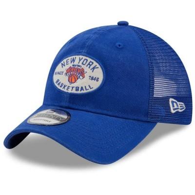 """ニューエラ メンズ キャップ """"New York Knicks"""" New Era Standard 9TWENTY Snapback Hat - Blue"""