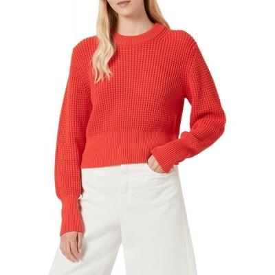 フレンチコネクション French Connection レディース ニット・セーター トップス luna mozart waffle-knit cotton sweater ポピーレッド