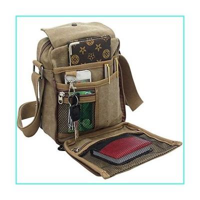 【新品】dealcase Men's Canvas Small Messenger Bag Casual Shoulder Bag Chest Bag Travel Carry Bag,Multi-Pocket Purse Handbag Crossbody Bags,Vintage