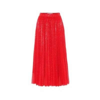 エムエスジーエム MSGM レディース ひざ丈スカート スカート Sequined pleated midi skirt