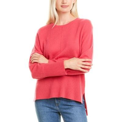 ハンナローズ ニット&セーター アウター レディース Hannah Rose High-Low Cashmere Sweater pink