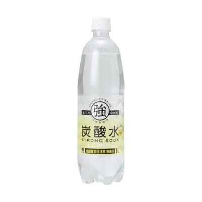 友桝飲料 強炭酸水レモン 1000ml×15本