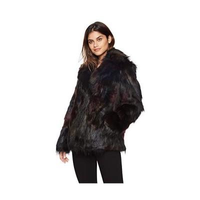 Rachel Roy Women's Faux Fur Coat, Multi, XSmall